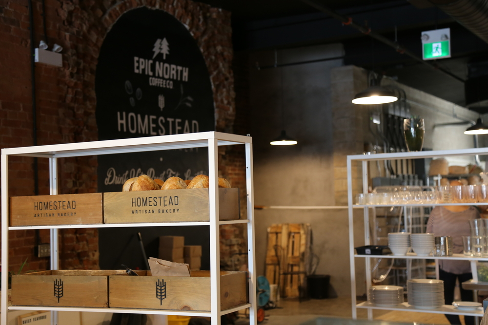 Homestead Artisan Bakery and Cafe and Epic North Coffee Roasters teamed up to open a new location downtown