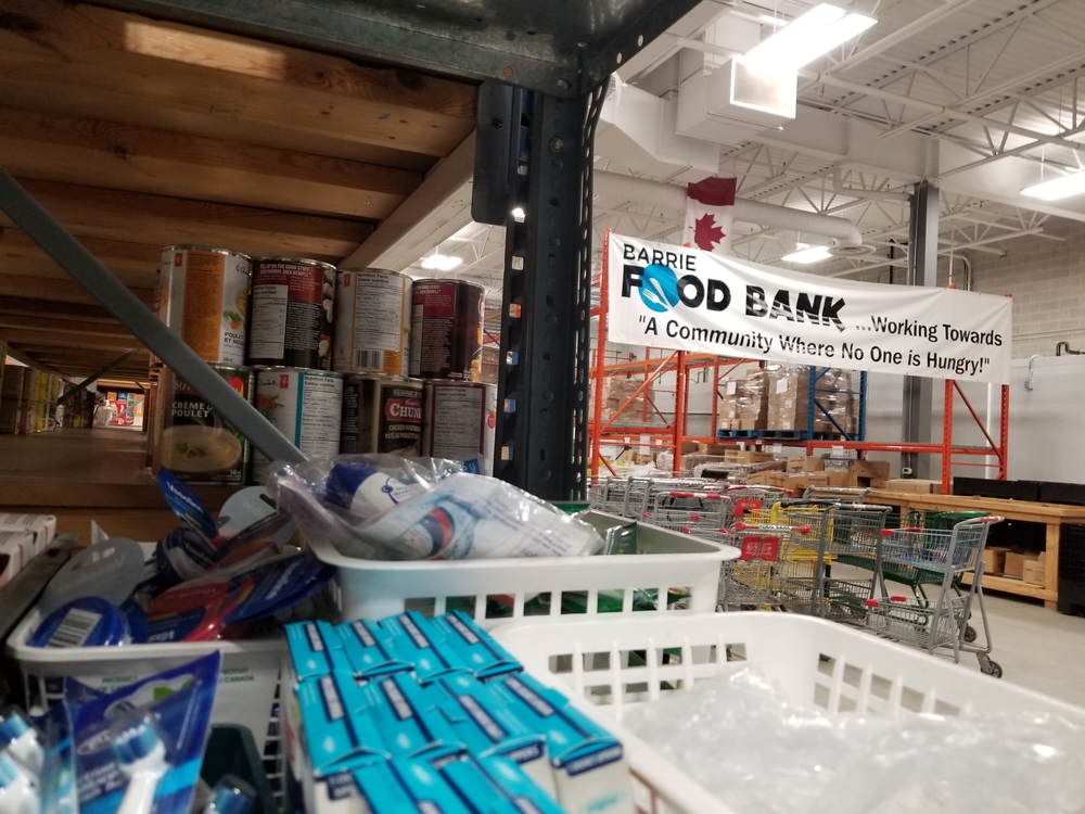 """""""We except everything you would put into your own cart,"""" Peter Sundborg Executive Director of the Barrie Food Bank."""