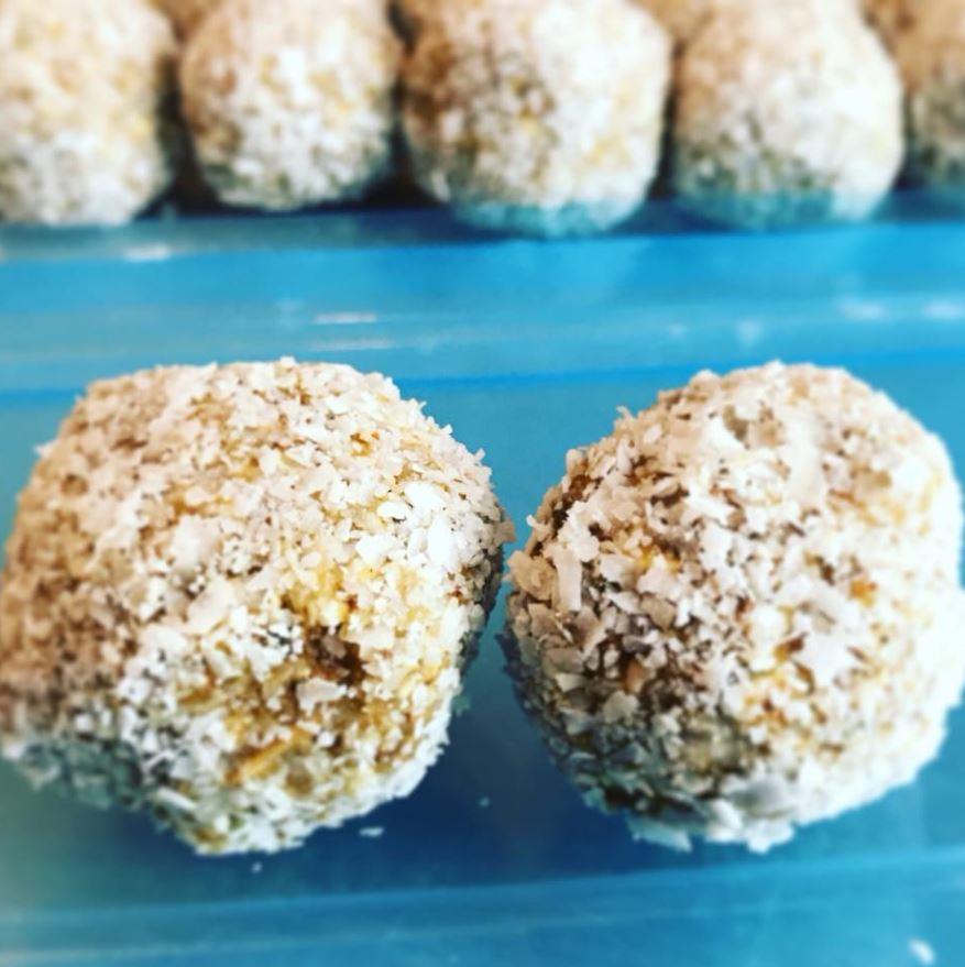 Coconut lemon turmeric balls at Renegade Health Bar