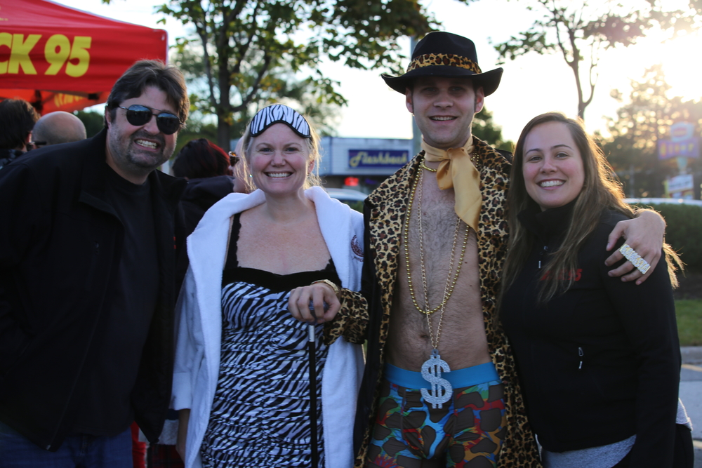 Rock 95 Morning Show hosts Craig and Cat with participants of the Undie500