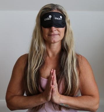 CNIB yoga in Dark
