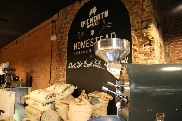 Epic North Coffee Co in downtown Barrie is now roasting beans