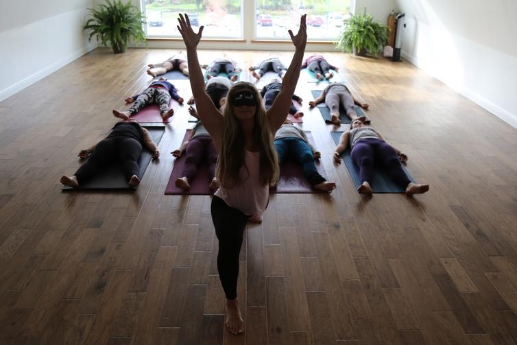 Yoga in Dark class