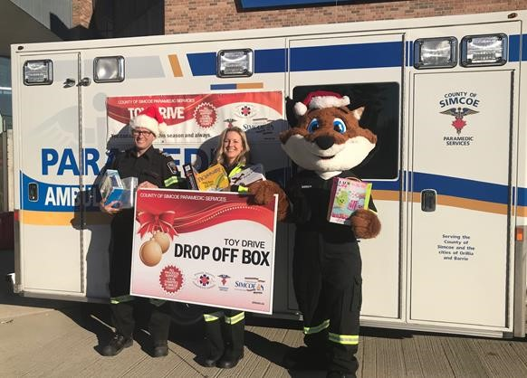 County Of Simcoe Paramedics Launch Toy Drive – Barrie 360 - Barrie 360
