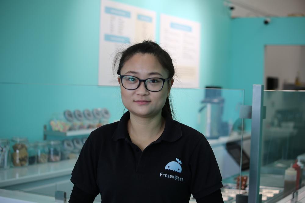Frozen Bites Owner Wendy Gao