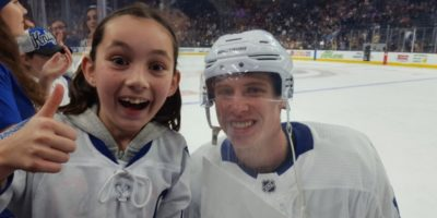 Mitch Marner Made One Lucky Girl's Valentine's Wish Come True At Thursday Night's Game