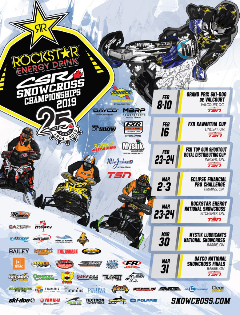 The races go this Saturday and Sunday Feb 23rd-24th.