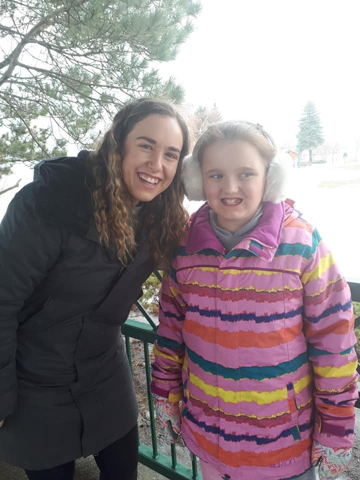9-Year-Old Paige of Barrie attends IBI Behavioural Services in the city. Barrie. Autism rally