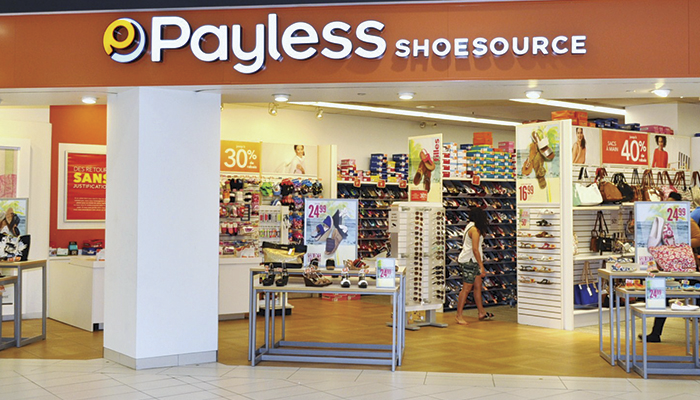 Payless to close a total of 2,500 stores across North America.