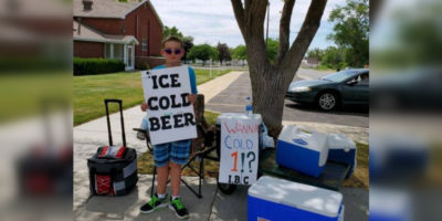 """Cops called on boy selling """"ice cold beer"""""""