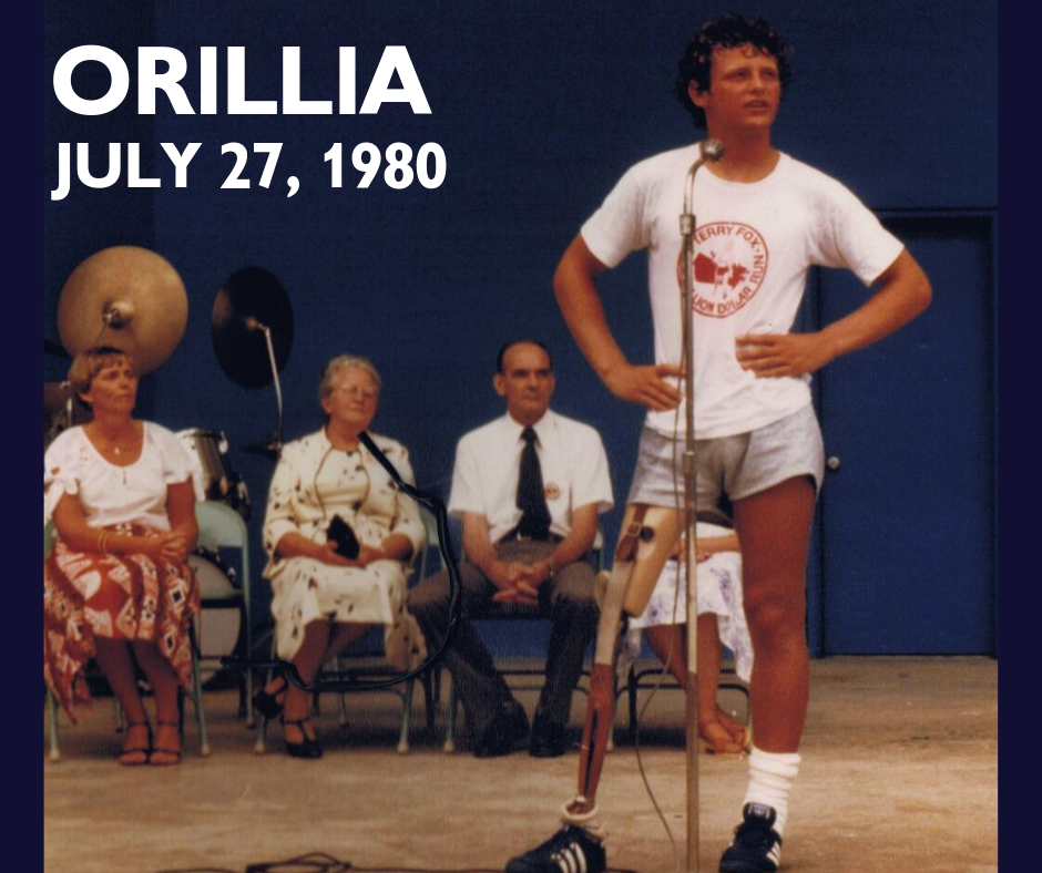 Terry Fox Anniversary In Orillia