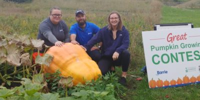 Barrie's Giant Pumpkin Squashes The Competition