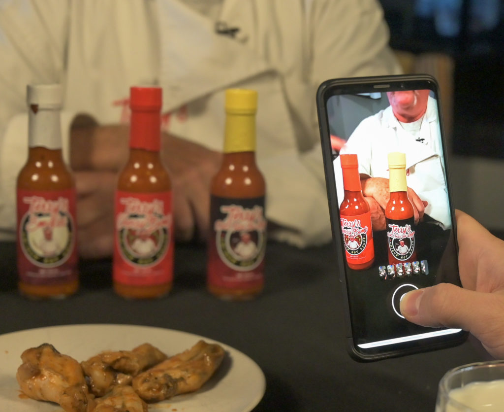 Craig and Cat from the Rock 95 Morning Show tried 4 levels of Terry's unique hot sauce