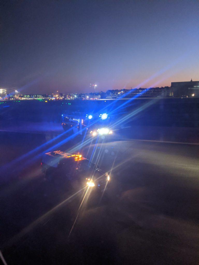 Emergency crews in Madrid responding to emergency landing involving an Air Canada flight to Toronto, Canada.