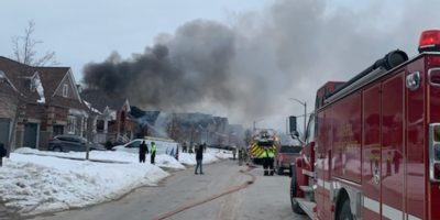 Fire at an Angus Street home in Alcona on Saturday afternoon