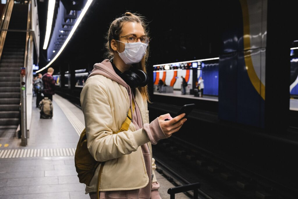Some public transit authorities now require that passengers wear masks.