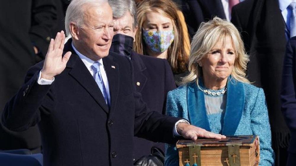"Joe Biden sworn in as 46th president, declaring ""democracy has prevailed"""