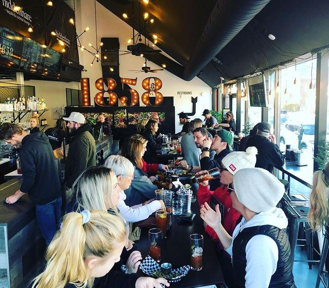 During normal times, 1858 Caesar Bar owners Steve and Vanessa Walker have a packed house at their downtown Collingwood location.